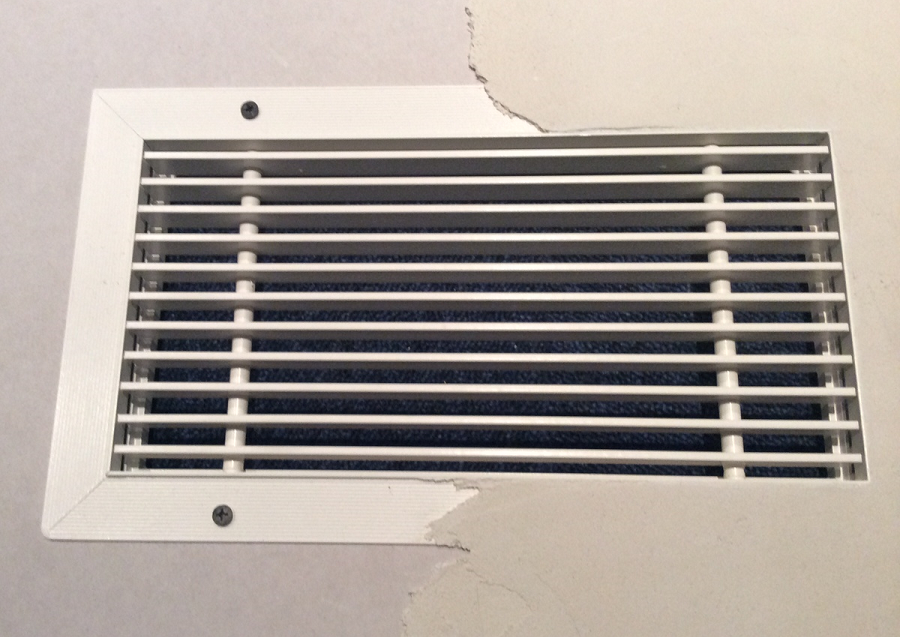 plaster in grille installation