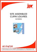 Site Assembled Clip In Louvres Brochure